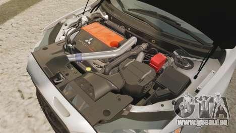 Mitsubishi Lancer Evolution X FQ400 pour GTA 4 est une vue de l'intérieur