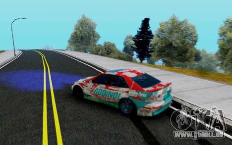 Toyota Altezza Addinol pour GTA San Andreas sur la vue arrière gauche
