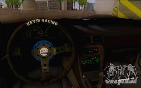 Nissan 240sx Blister pour GTA San Andreas vue intérieure