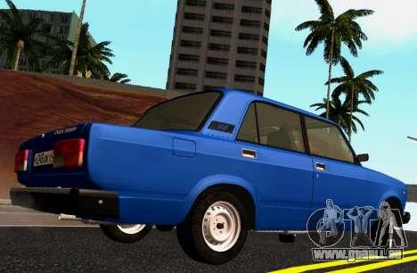 VAZ-2107 Riva pour GTA San Andreas laissé vue