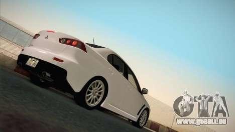 Mitsubishi Lancer Evolution pour GTA San Andreas vue arrière