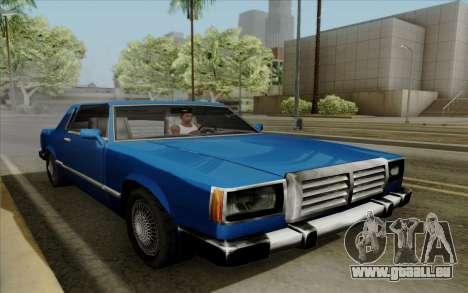 Feltzer hard top pour GTA San Andreas vue arrière