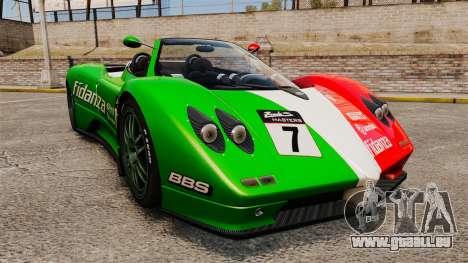 Pagani Zonda C12 S Roadster 2001 PJ6 pour GTA 4