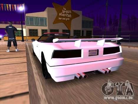 New Infernus pour GTA San Andreas vue arrière