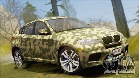 BMW X6M E71 2013 300M Wheels für GTA San Andreas Innen