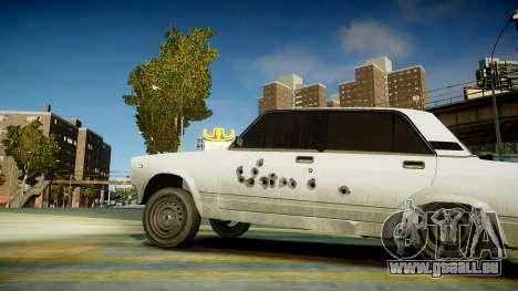 VAZ 2107 pour GTA 4 Vue arrière