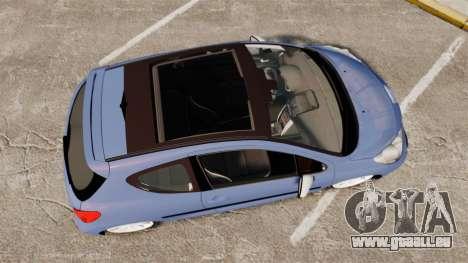 Peugeot 207 RC für GTA 4 rechte Ansicht