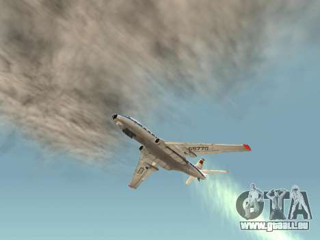 Tu-A für GTA San Andreas Rückansicht