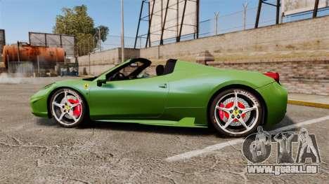 Ferrari 458 Spider Speciale pour GTA 4 est une gauche