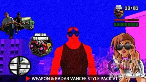 Arme & Radar VanCee Style Pack v1 pour GTA San Andreas onzième écran