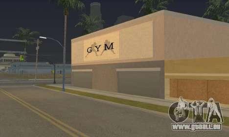 New gym pour GTA San Andreas troisième écran