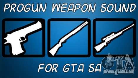 Progun Weapon Sound pour GTA San Andreas