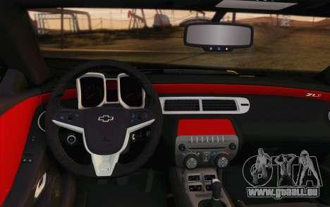 Chevrolet Camaro ZL1 2011 für GTA San Andreas Unteransicht