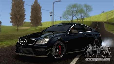 Mercedes C63 AMG Black Series 2012 für GTA San Andreas
