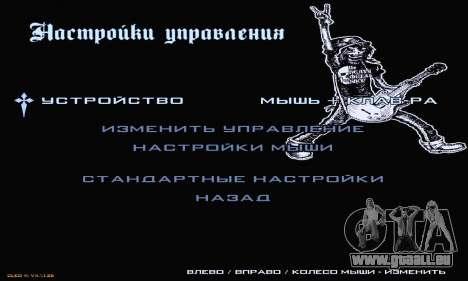 Heavy Metal Menu V.1 für GTA San Andreas fünften Screenshot