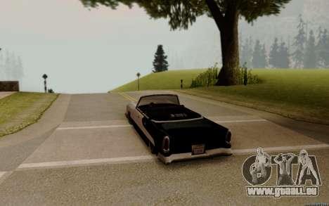 Oceanic Cabrio für GTA San Andreas zurück linke Ansicht