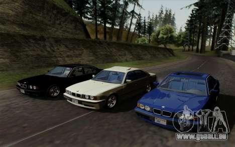 BMW 540i (E34) pour GTA San Andreas vue intérieure