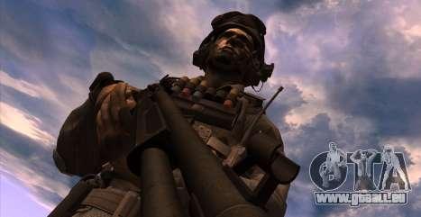 Le lieutenant David l'hesh Walker из Call Of Dut pour GTA San Andreas troisième écran