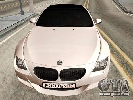 BMW M6 Hamann pour GTA San Andreas laissé vue