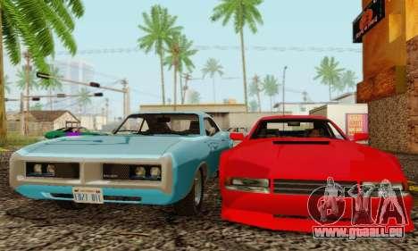 New Cheetah v1.0 pour GTA San Andreas sur la vue arrière gauche