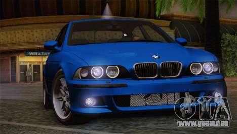 BMW E39 M5 2003 pour GTA San Andreas vue de dessus