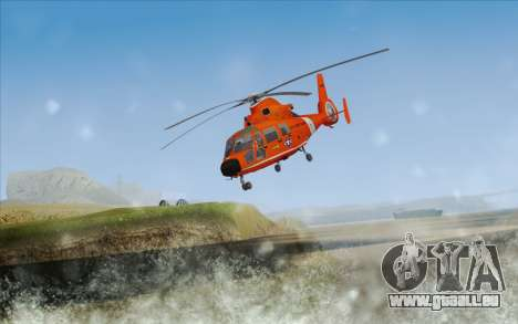 AS 365N Dauphin pour GTA San Andreas laissé vue