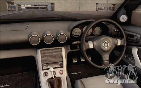 Nissan Silvia S15 Fail Camber pour GTA San Andreas vue intérieure