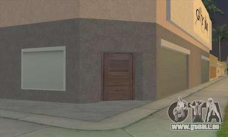 New gym pour GTA San Andreas cinquième écran