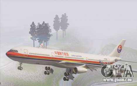 Airbus A340-300 China Eastern für GTA San Andreas Innen