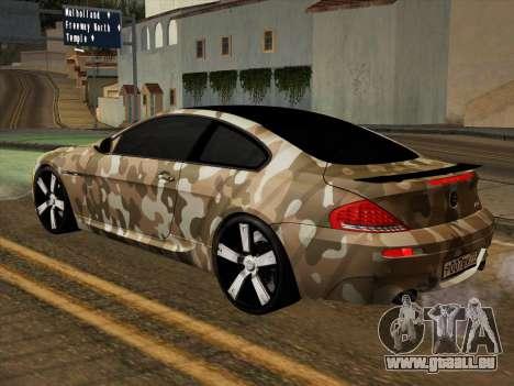 BMW M6 Hamann pour GTA San Andreas vue de dessus