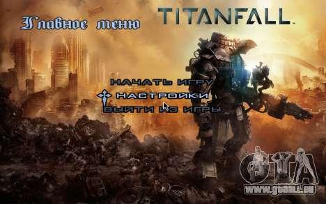 Les écrans de démarrage et de menus Titanfall pour GTA San Andreas quatrième écran