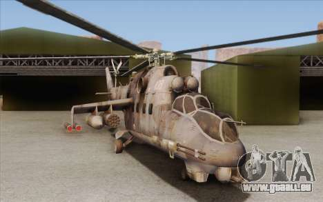 Mi-24D Hind from Modern Warfare 2 für GTA San Andreas linke Ansicht