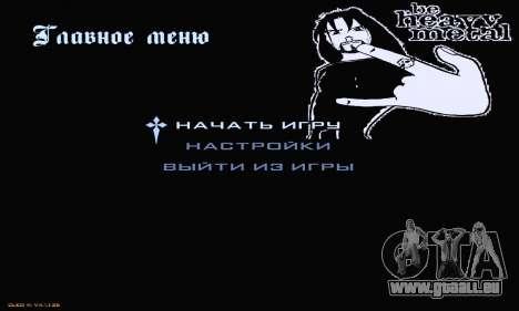 Heavy Metal Menu V.1 für GTA San Andreas zweiten Screenshot