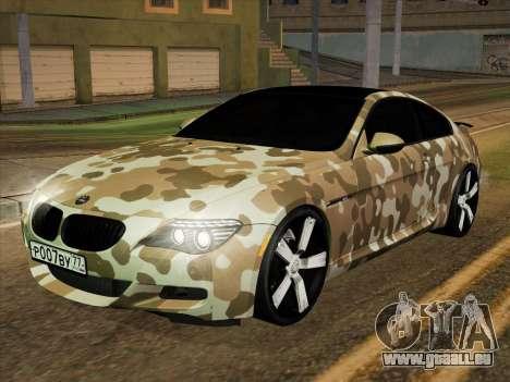 BMW M6 Hamann pour GTA San Andreas vue de côté