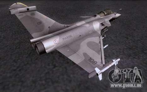 Dassault Rafale M pour GTA San Andreas vue de dessus