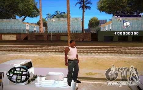 C-HUD Tawer Gitto pour GTA San Andreas quatrième écran