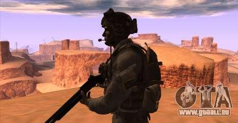Le lieutenant David l'hesh Walker из Call Of Dut pour GTA San Andreas sixième écran