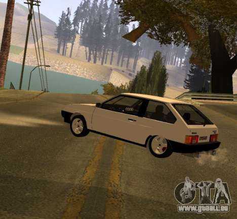 ВАЗ 2108 GVR Version 2.0 pour GTA San Andreas laissé vue