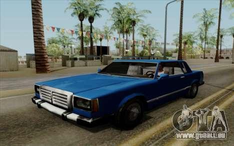 Feltzer hard top pour GTA San Andreas vue de droite