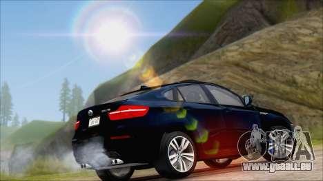 BMW X6M E71 2013 300M Wheels für GTA San Andreas Rückansicht