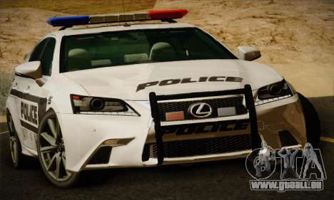Lexus GS350 F Sport Series IV Police 2013 pour GTA San Andreas