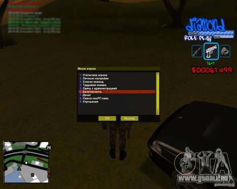 C-Hud Diamond RP pour GTA San Andreas deuxième écran