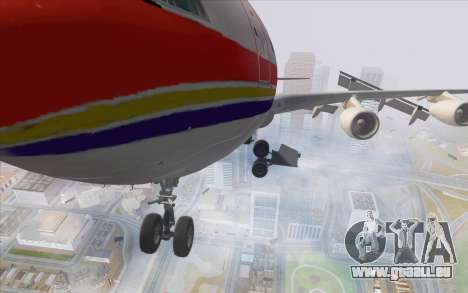 Airbus A340-300 China Eastern pour GTA San Andreas vue arrière