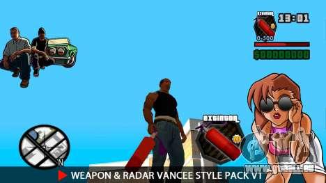 Waffe & Radar VanCee Style Pack v1 für GTA San Andreas zehnten Screenshot