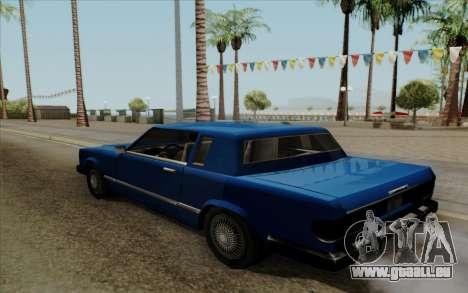 Feltzer hard top pour GTA San Andreas sur la vue arrière gauche