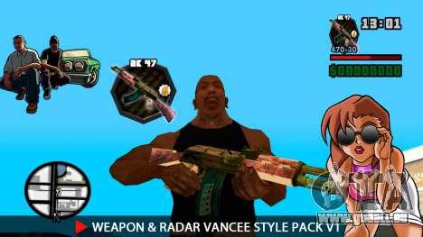 Waffe & Radar VanCee Style Pack v1 für GTA San Andreas siebten Screenshot