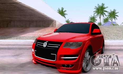 Volkswagen Touareg Mansory pour GTA San Andreas sur la vue arrière gauche