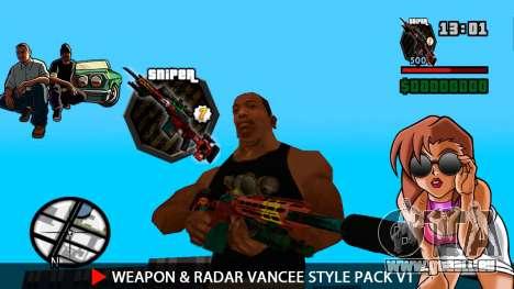 Waffe & Radar VanCee Style Pack v1 für GTA San Andreas achten Screenshot
