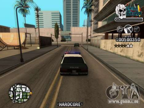 C-HUD Hardcore By KD für GTA San Andreas