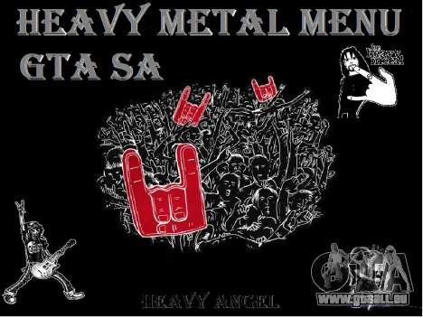 Heavy Metal Menu V.1 pour GTA San Andreas